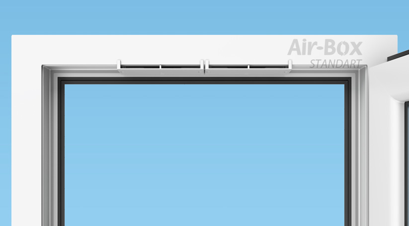 Установка приточного клапана на окно Air-Box Standart