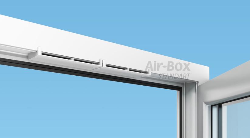 Монтаж приточного клапана на окно Air-Box Standart