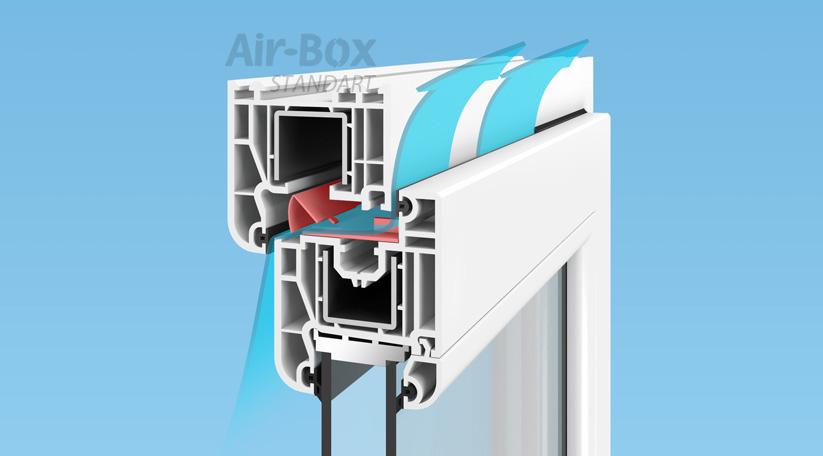 Принцип работы приточного клапана на окно Air-Box Standart